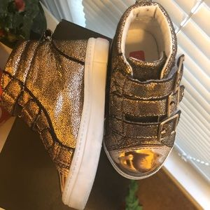 Toddler Shimmery High Top Sneakers